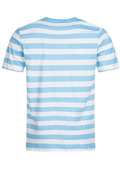 ONLY & SONS Herren Striped T-Shirt hell blau weiss