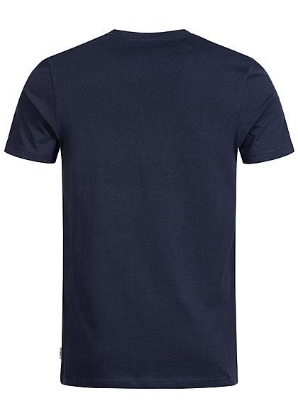 Jack and Jones Herren Printed T-Shirt Stripes maritim blau