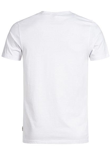 Jack and Jones Herren Printed T-Shirt Stripes weiss