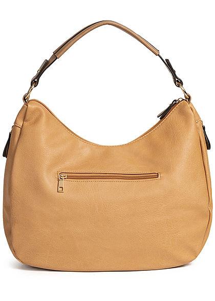 Styleboom Fashion Damen Tote Zip Bag camel braun