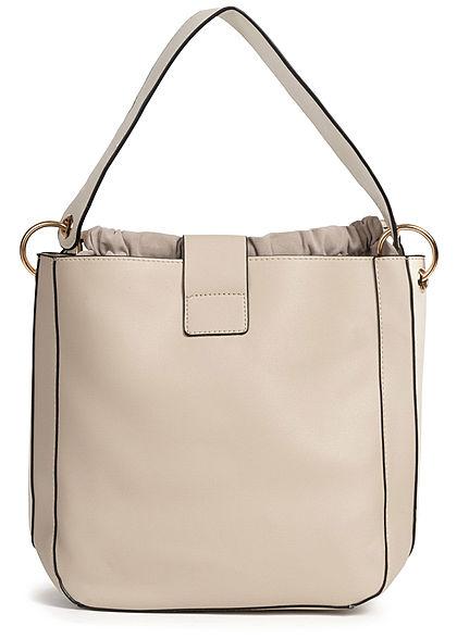 Styleboom Fashion Damen 2in1 Tote Bag hell grau