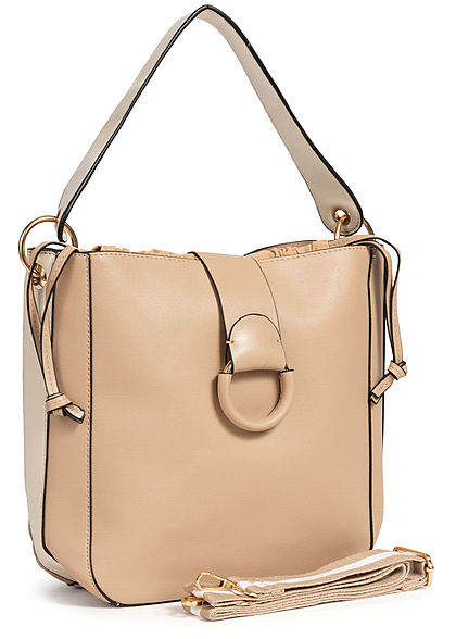 Styleboom Fashion Damen 2in1 Tote Bag khaki