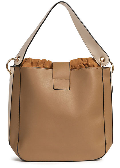 Styleboom Fashion Damen 2in1 Tote Bag khaki braun