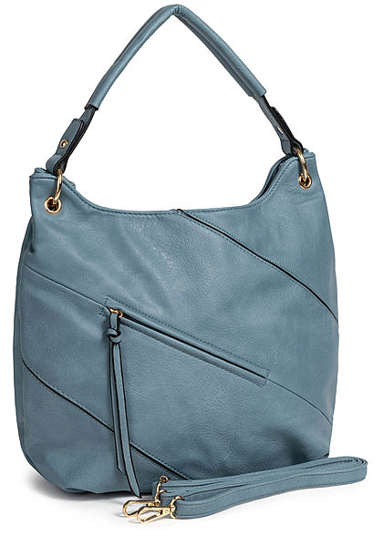 Styleboom Fashion Damen Tote Zip Bag hell blau
