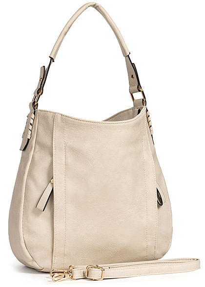 Styleboom Fashion Damen Tote Zip Bag hell grau