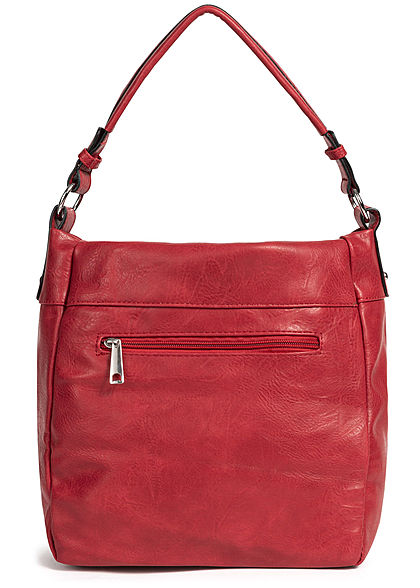 Styleboom Fashion Damen Tote Zip Bag rot