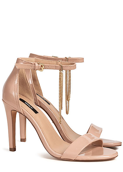 ONLY Damen Ankle Strap Peep Toe Pump nude rosa