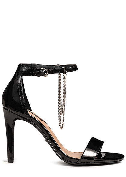 ONLY Damen Ankle Strap Peep Toe Pump schwarz