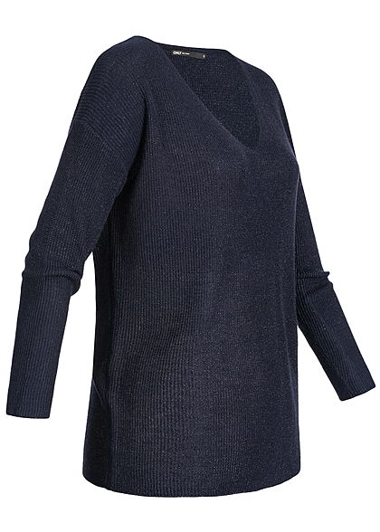 ONLY Damen Sweater Allover Glitter night sky blau