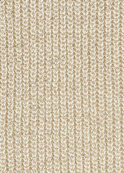 ONLY Damen Sweater Allover Glitter pumice stone beige