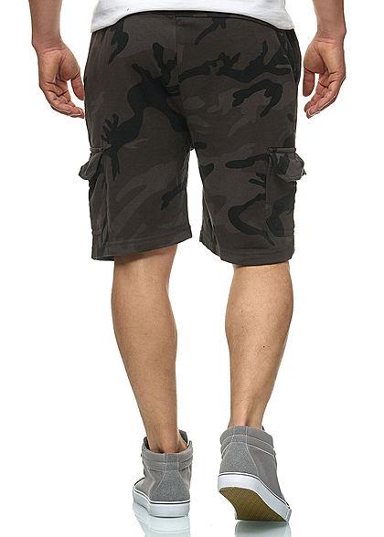 Urban Classics Herren Bermuda Cargo Camouflage Shorts 4-Pockets dark camo