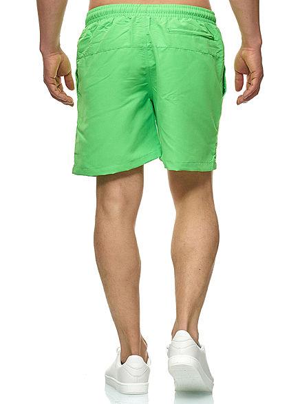 Urban Classics Herren Block Swim Shorts 2-Pockets Tunnelzug neongrün