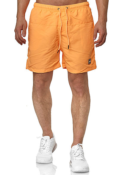 Seventyseven Lifestyle TB Herren Block Swim Shorts 2-Pockets neon orange