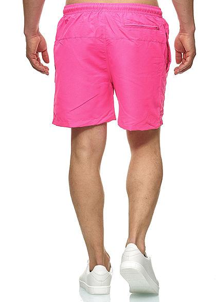 Urban Classics Herren Block Swim Shorts 2-Pockets neon pink