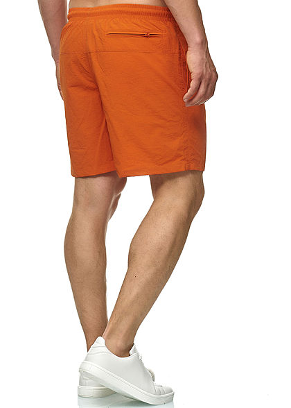 Seventyseven Lifestyle TB Herren Block Swim Shorts 2-Pockets rust orange