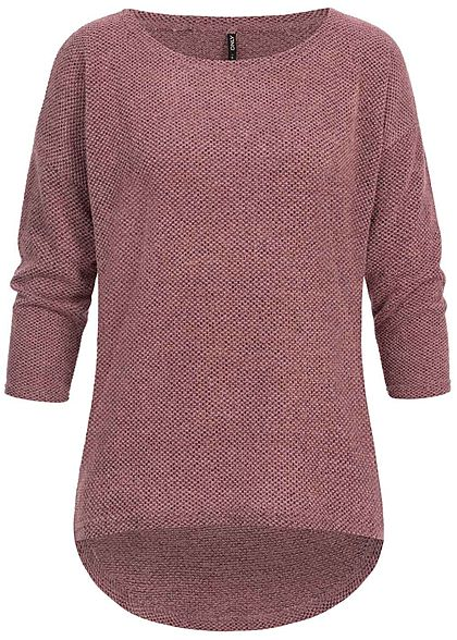 ONLY Damen 3/4 Sleeves Sweater NOOS dry rosa mel