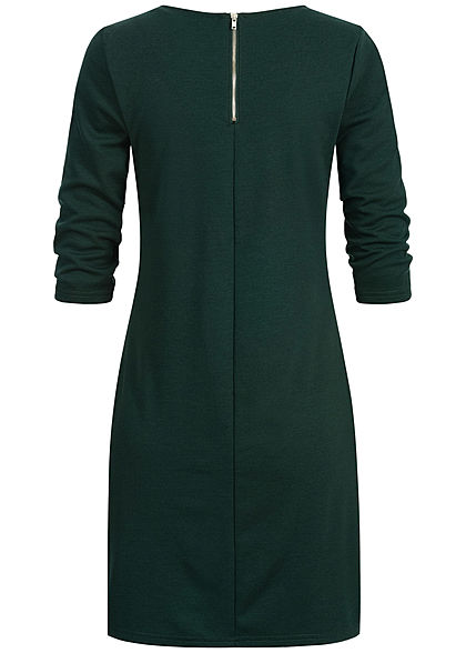 ONLY Damen NOOS 3/4-Arm Kleid Zipper hinten pine grove grün