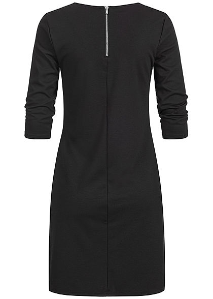 ONLY Damen NOOS 3/4-Arm Kleid Zipper hinten schwarz