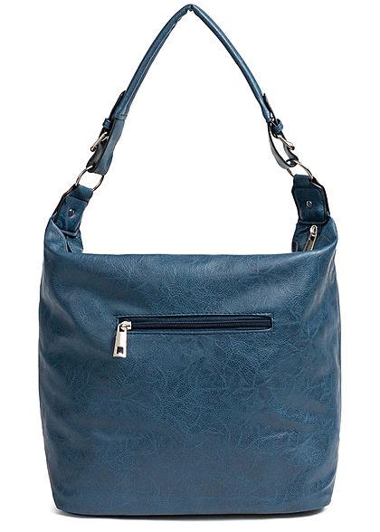 Styleboom Fashion Damen 2-Tone Tote Zip Bag blau rot
