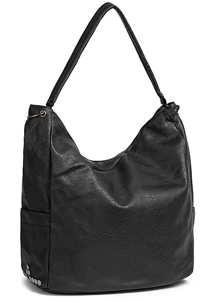 Styleboom Fashion Damen Tote Zip Bag schwarz