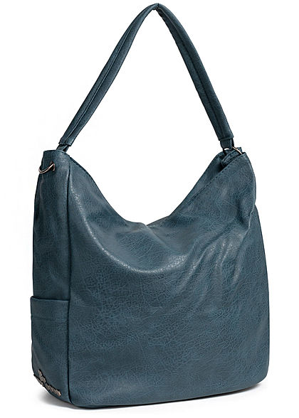 Styleboom Fashion Damen Tote Zip Bag blau