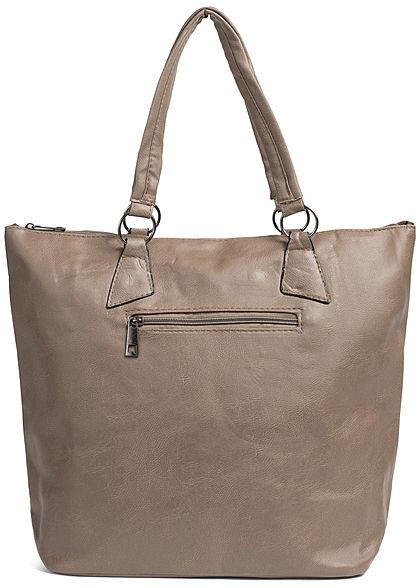 Styleboom Fashion Damen Tote Zip Bag khaki