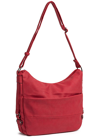 Styleboom Fashion Damen Tote Zip Bag bady andy rot