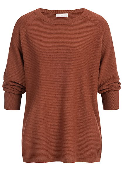 JDY by ONLY 7/8 Sleeve Oversized Knit Sweater NOOS smoked paprika braun