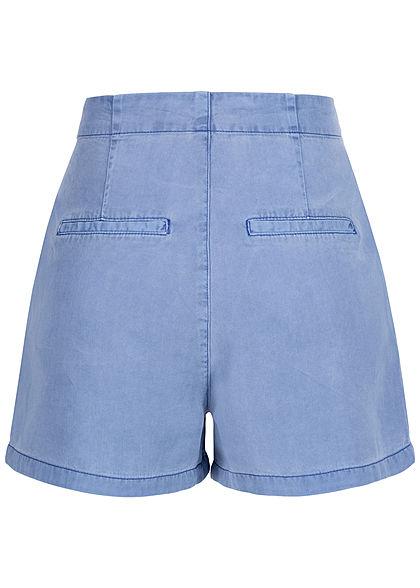 Vero Moda Damen Belted Loose Summer Denim Shorts 2-Pockets granada sky blau