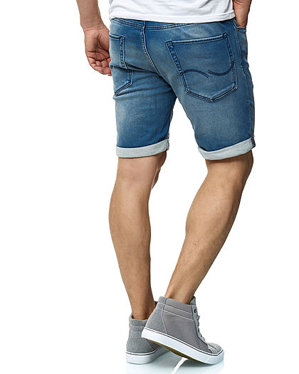 Jack and Jones Herren Denim Bermuda Jeans Shorts 5-Pockets hell blau denim
