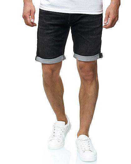 newest collection d8aed 3d185 Jack and Jones Herren Denim Bermuda Jeans Shorts 5-Pockets schwarz denim