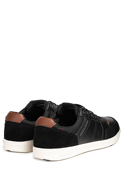 Jack and Jones Herren Flatform Leather Sneaker schwarz braun