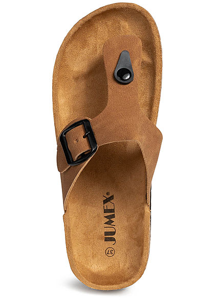 Seventyseven Lifestyle Damen Toe Post Sandals camel braun