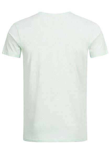 Eight2Nine Herren Summer Printed T-Shirt pastel türkis