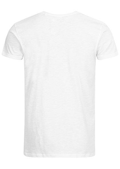 Eight2Nine Herren Printed T-Shirt by Sky Rebel weiss
