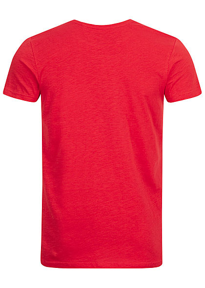 Eight2Nine Herren Printed T-Shirt by Sky Rebel rot
