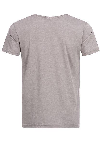 Eight2Nine Herren Printed T-Shirt Hang Out by Stitch & Soul hell grau melange
