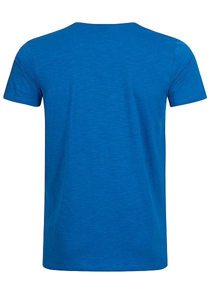 Eight2Nine Herren Printed T-Shirt Basketball by Sublevel bright blau