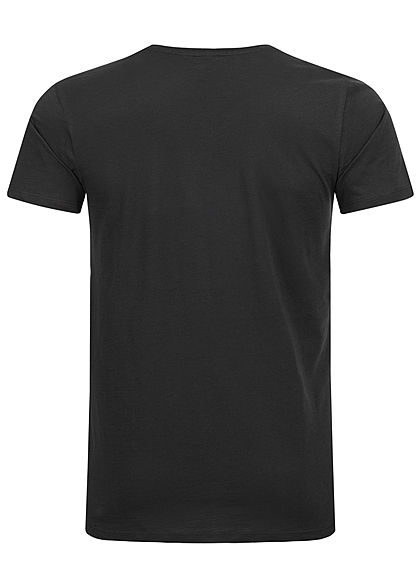 Eight2Nine Herren Printed T-Shirt Basketball by Sublevel schwarz