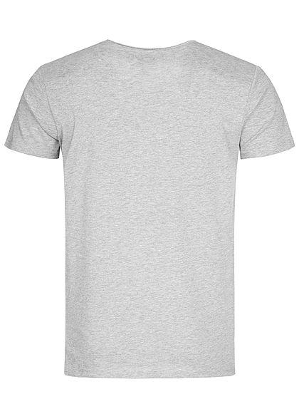 Eight2Nine Herren Lion Printed T-Shirt by Sublevel hell grau