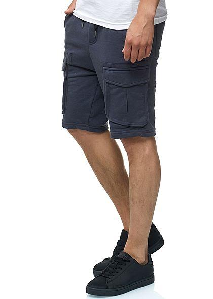 Eight2Nine Herren Cargo Sweat Shorts 4-Pockets by Urban Surface dunkel navy blau