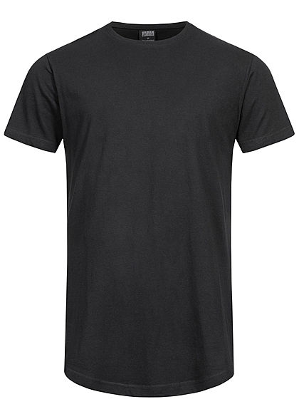 Urban Classics Herren Basic Shaped Long T-Shirt schwarz