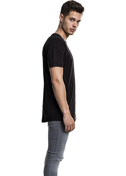 Urban Classics Herren Basic Shaped Long T-Shirt schwarz