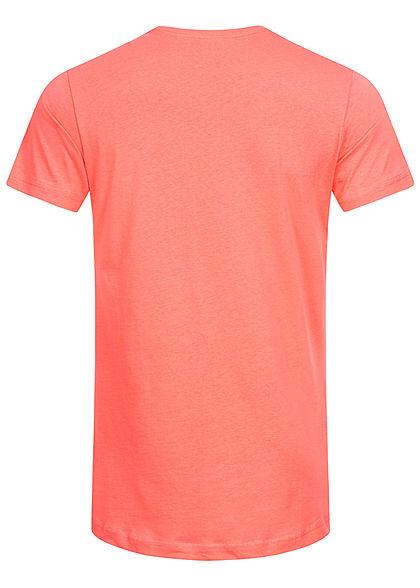 Urban Classics Herren Basic Shaped Long T-Shirt coral pink