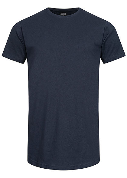 Seventyseven Lifestyle TB Herren Basic Shaped Long T-Shirt navy blau