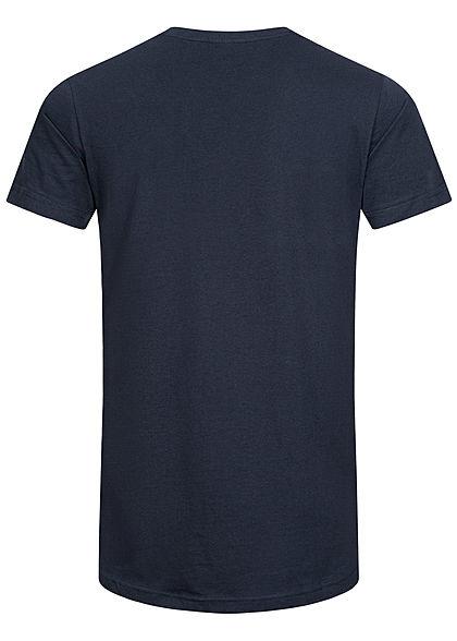 Urban Classics Herren Basic Shaped Long T-Shirt navy blau