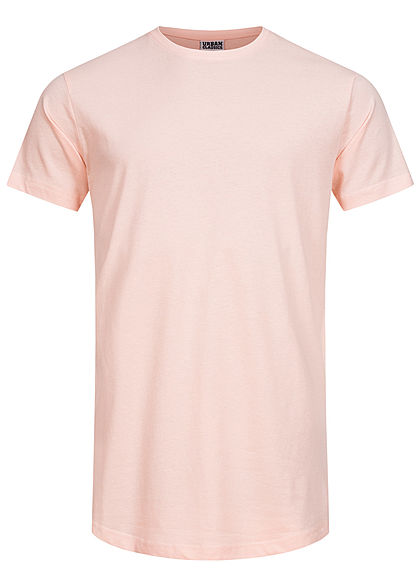 Seventyseven Lifestyle TB Herren Basic Shaped Long T-Shirt pink rosa
