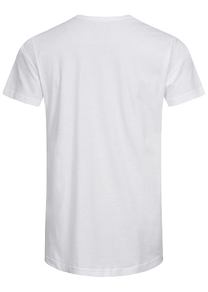Seventyseven Lifestyle TB Herren Basic Shaped Long T-Shirt weiss