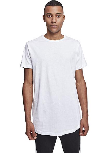 Urban Classics Herren Basic Shaped Long T-Shirt weiss