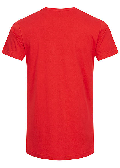 Seventyseven Lifestyle TB Herren Basic Shaped Long T-Shirt fire rot
